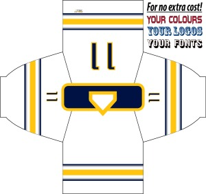 HOCKEY JERSEY  BUFFALO WHITE
