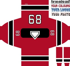 HOCKEY JERSEY NEW JERSEY RED
