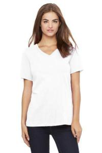BELLA + CANVAS ® RELAXED JERSEY SHORT SLEEVE V-NECK LADIES' TEE