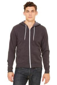 BELLA + CANVAS ® POLY-COTTON FLEECE FULL ZIP HOODIE
