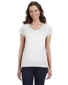 Gildan Softstyle® Ladies' 7.5 oz./lin. yd. Fitted V-Neck T-Shirt