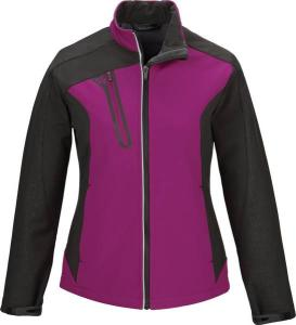 North End® Ladies' Terrain Colourblock Soft Shell with Embossed Print
