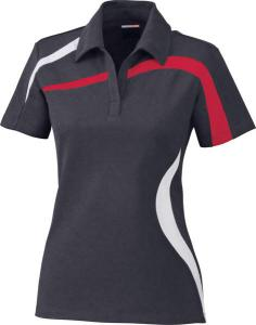 North End® Ladies' Impact Performance Polyester Piqué Colourblock Polo