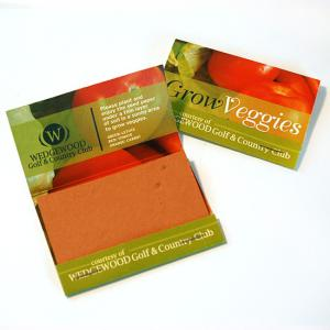 Large Veggie Seed Paper Matchbook Double Sided (3 Rectangle Swatches)