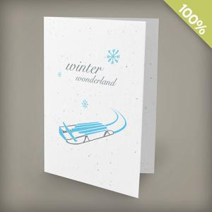 A6 100% Plantable Personalized Holiday Cards - Winter Wonderland