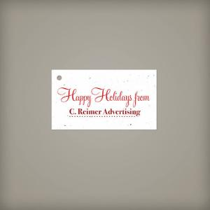 Wide Plantable Holiday Tag Double Sided