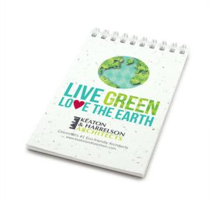 """Love The Earth"" Earth Day Seed Paper Notepad"