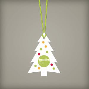 Modern Evergreen Seed Paper Ornament