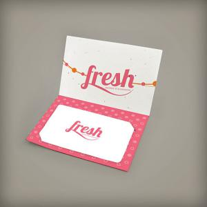 Small Folded Seed Paper Gift Card Holder