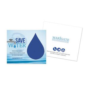 Water Conservation Plantable Droplet Cards