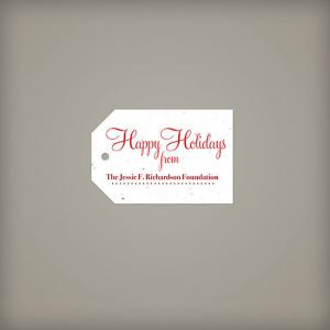 Classic Shape Seed Paper Holiday Tag