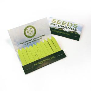 Large Wildflower Seed Paper Matchbook (20 Matches) Double Sided