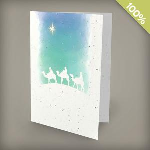 A6 100% Plantable Personalized Holiday Cards - Wisemen