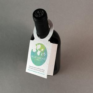 Seed Paper Wine Bottle Tag With Fold