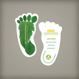 Sustainability Footprint Seed Paper Business Cards