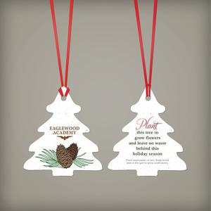 Pinecone Seed Paper Ornament
