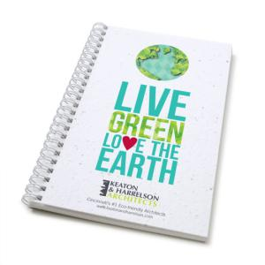 """Love The Earth"" Earth Day Seed Paper Journal Standard"