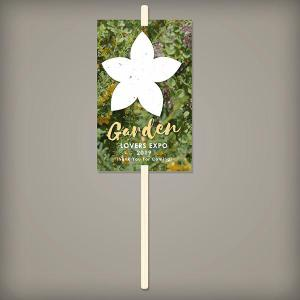 Pre-Designed Wildflower Seed Paper Planting Sticks