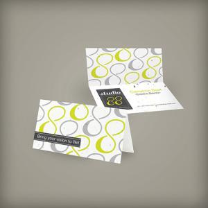 Seed Paper Folded Business Cards Double Sided