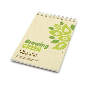 """Growing Green"" Earth Day Seed Paper Notepad"
