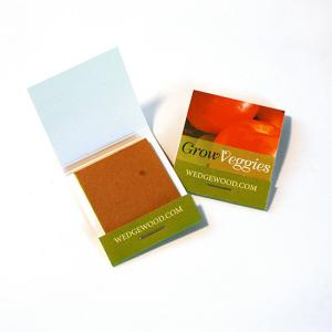 Small Veggie Seed Paper Matchbook (3 Rectangle Swatches)