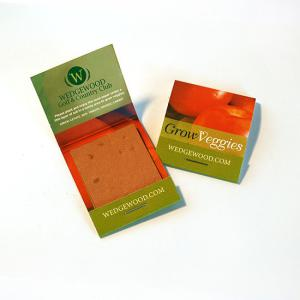 Small Veggie Seed Paper Matchbook Double Sided (3 Rectangle Swatches)