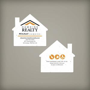 House Shape Seed Paper Business Cards