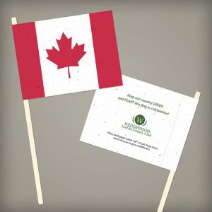 Canadian Seed Paper Promotional Flags